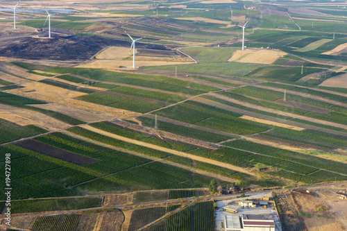 Keuken foto achterwand Khaki aerial view of landscapes of Sicily in Italy
