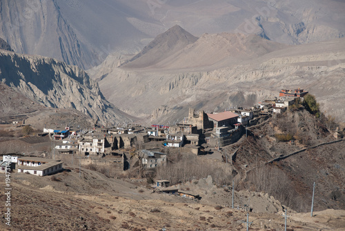 Dark grey The old town of Jharkot