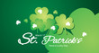 Saint Patrick Day clover Banner green background