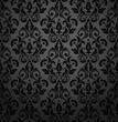 Floral pattern. Wallpaper baroque, damask. Seamless vector background. Black ornament - 194741800