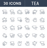 Set Vector Line Icons of Tea. - 194762218