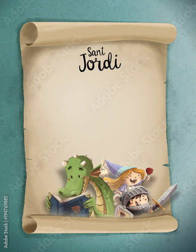 carta de Sant Jordi para niños