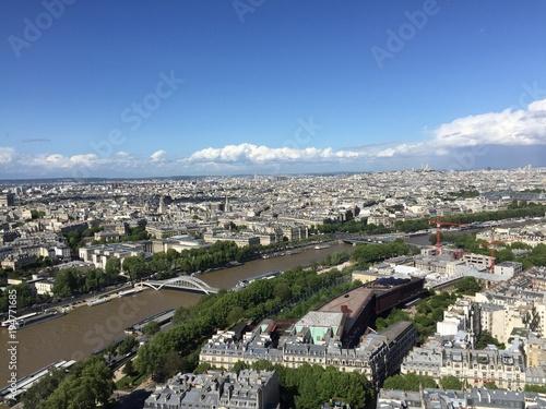 Poster Parijs Vue de la tour Eiffel