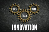 Innovation as combination of idea, team and plan