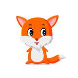fox cute vector illustration