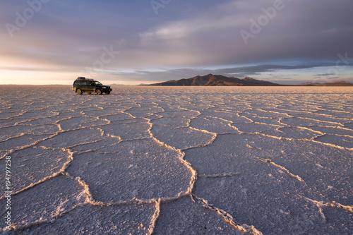 Aluminium Lavendel Salt Flats Uyuni (Salar de Uyuni), Altiplano, Bolivia