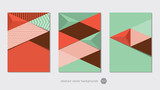 abstract geometric vector layout backgrounds - 194803099