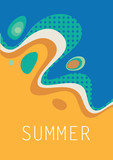 summer  vector abstract poster with wave - 194803294