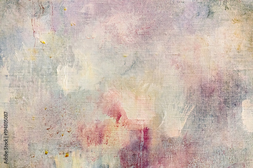 weathered abstract art background with paint splashes and blots © Mr Twister