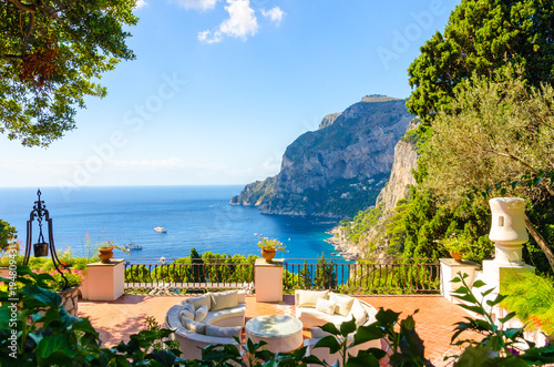 Foto op Canvas Napels Amazing view on Capri island, Campania, Italy