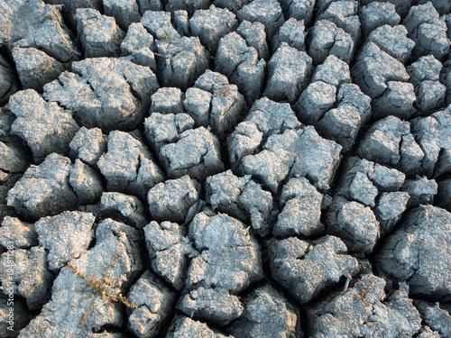 Foto op Canvas Stenen Texture of dried pond
