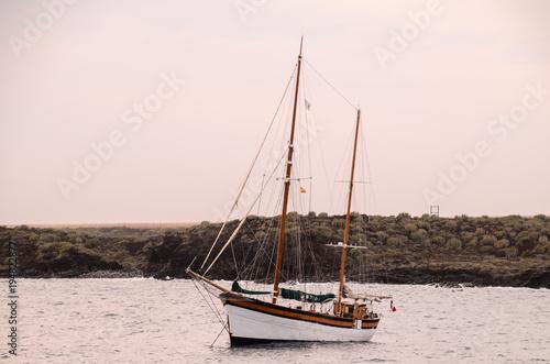 Foto op Canvas Schip Vintage Sail Boat