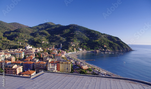 Foto op Aluminium Liguria Levanto or Levante, a beautiful fishing village in Liguria. Italy