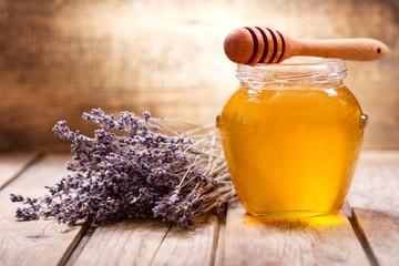 jar of lavender honey