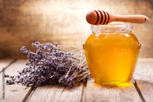 jar of lavender honey