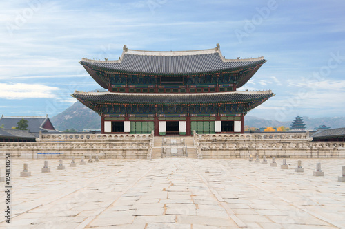 Aluminium Seoel Gyeongbokgung palace in Seoul city, South korea.