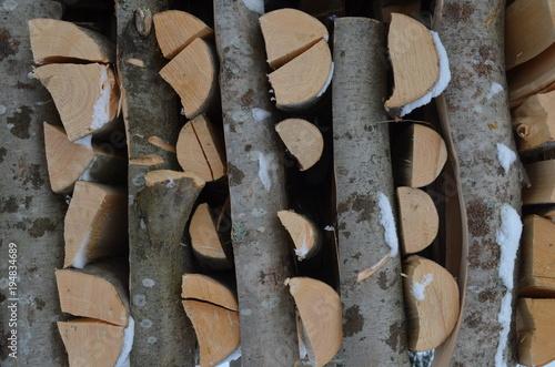 Foto op Canvas Brandhout textuur дрова