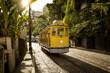 Quadro Old yellow tram in Santa Teresa district in Rio de Janeiro, Brazil