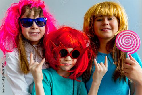 Fototapeta Kids playing musical instruments