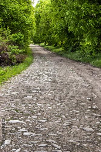 Fotobehang Stenen old subuarban road