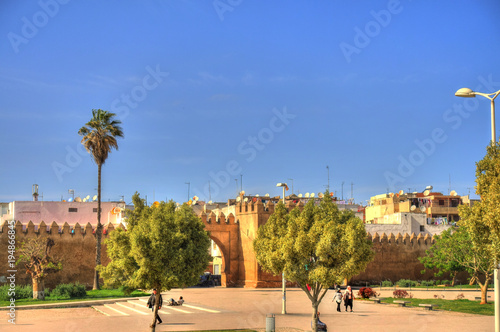 In de dag Marokko Rabat, Morocco