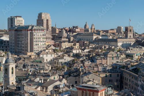 Fotobehang Liguria Genoa cityscape, Liguria, Italy