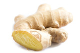 bio ginger isolated white background - 194873670