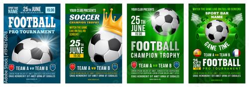 Foto op Aluminium Bol Football Poster Set