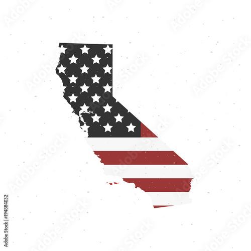Fototapeta California map icon. Vector illustration