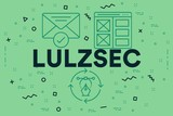 Conceptual business illustration with the words lulzsec - 194891664