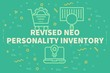 Постер, плакат: Conceptual business illustration with the words revised neo personality inventory