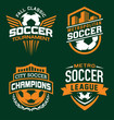 Soccer sport graphic emblem set