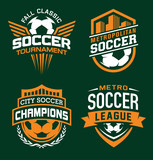 Soccer sport graphic emblem set - 194907007