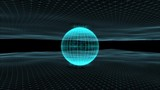 Futuristic rotating 3d sphere on motion network background.  - 194907489