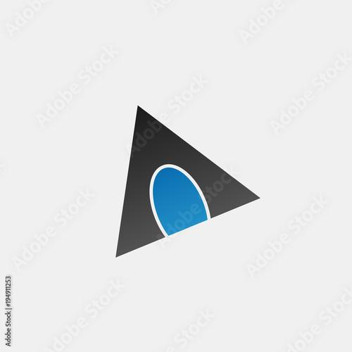 Fototapeta Triangle logo design