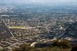 Aerial View of the City of Claremont, Ontario, Upland, Rancho Cucamonga, Montclair, and Pomona from Potato Mountain, Mount Baldy, California