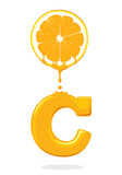 illustration fresh orange,Vitamin C, vector