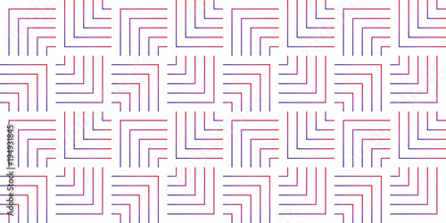 Pattern geometric gradient colorful line chevron seamless design abstract background texture. - 194931845