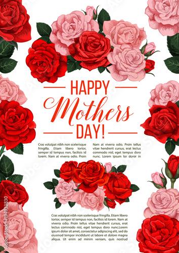Fototapeta Vector banner for Mother s day