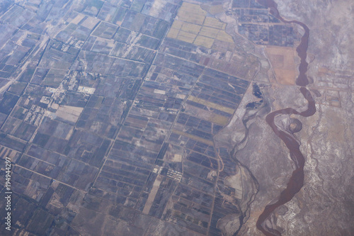 view from the height of the aircraft - 194944297
