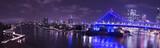 Iconic Story Bridge, river and Newfarm Riverwalk in Brisbane, Queensland, Australia. - 194945618