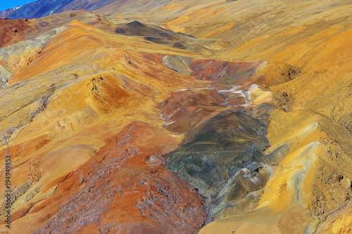 Fotobehang Honing multi-colored mountains landscape