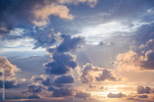 Papiers peints Morning Glory Bright beautiful sunset sky background