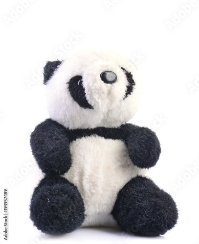 Plexiglas Panda Bear panda on white background