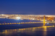 famous San Francisco Golden Gate bridge by night