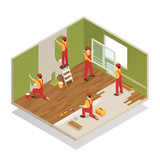 Home Renovation Isometric Composition  - 194963284