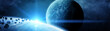 Panoramic view of planets in distant solar system 3D rendering elements of this image furnished by NASA - 194964617