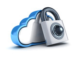 Abstract cloud storage and lock - 194965422