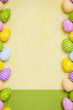 a beautiful colored eggs easter background - 194969235