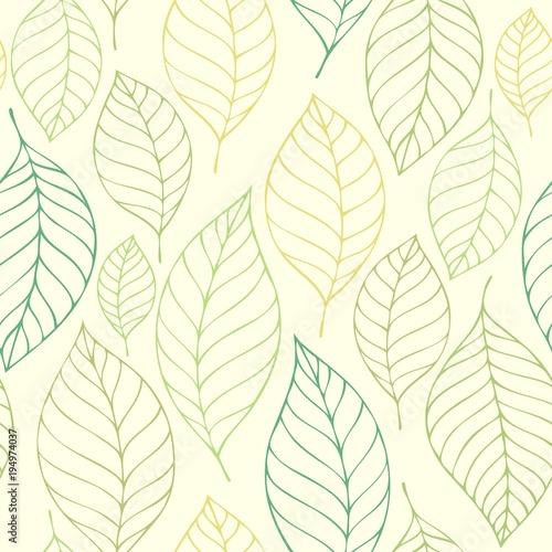Foto op Canvas Voor kinderen Leafy seamless background 7